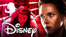 Black Widow Disney logo}