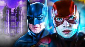 Batman's Wayne Manor Surrounded In Smoke In New The Flash Movie Set Photos