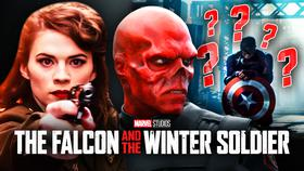 Falcon and Winter Soldier's John Walker, Peggy Carter, Red Skull}