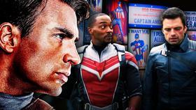 Captain America, Falcon and Bucky}