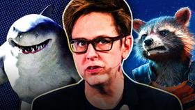 King Shark, James Gunn, Rocket Raccoon}