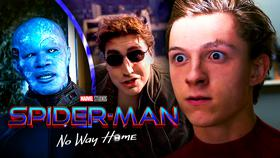 Spider-Man, Electro, and Doc-Ock, Spider-Man: No Way Home logo}