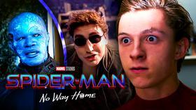 Spider-Man, Electro, and Doc-Ock, Spider-Man: No Way Home logo}