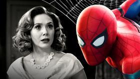 Elizabeth Olsen as Wanda Maximoff, Spider-Man}