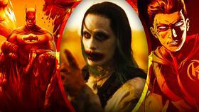 Jared Leto Joker with Robin and Batman}