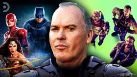 Justice League, Suicide Squad, and Michael Keaton}