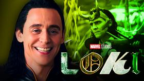 Tom Hiddleston as Loki, Loki logo}