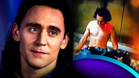 Tom Hiddleston Is Shirtless In New Footage From Marvel's Loki Disney+ Show