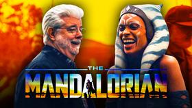 The Mandalorian George Lucas Visit}
