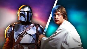 Mando, Mark Hamill as Luke Skywalker}