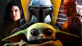Cara Dune, Mando, Baby Yoda, The Mandalorian Creature}