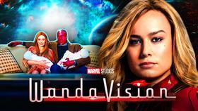 WandaVision Logo, Captain Marvel}