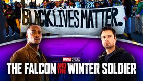 Falcon and Winter Soldier Black Lives Matter}