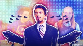 Robert Downey Jr as Tony Stark, Spider-Man: Far From Home scene}