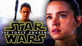 Daisy Ridley Rey Star Wars The Force Awakens logo}