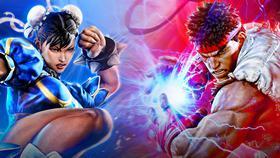 Ryu and Chun-Li in Street Fighter 5}