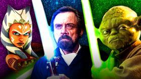 Ahsoka Tano, Luke Skywalker, Yoda}