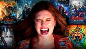 Elizabeth Olsen's Scarlet Witch, MCU posters.}