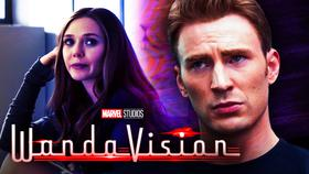 Wanda, Steve Rogers, WandaVision title logo}