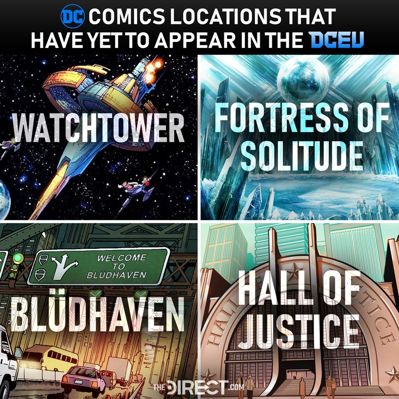 Comic Locations that Have Yet to Appear in the DCEU