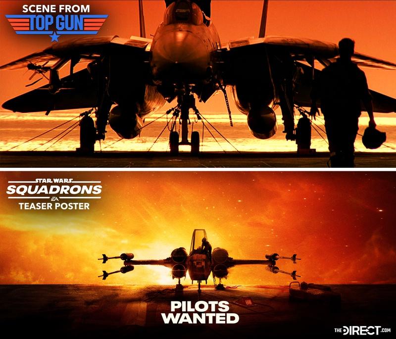 Star Wars: Squadrons poster / Top Gun poster (Comparison)
