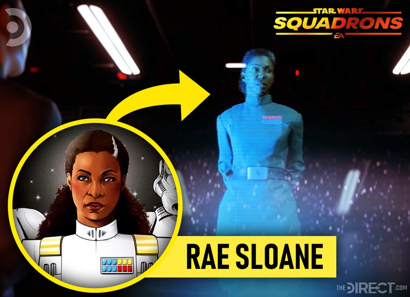 Rae Sloane appearance in Star Wars: Squadrons