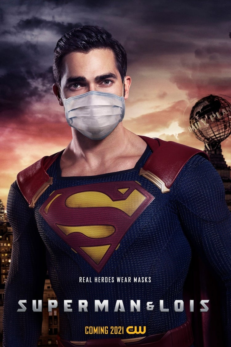 Superman with a mask