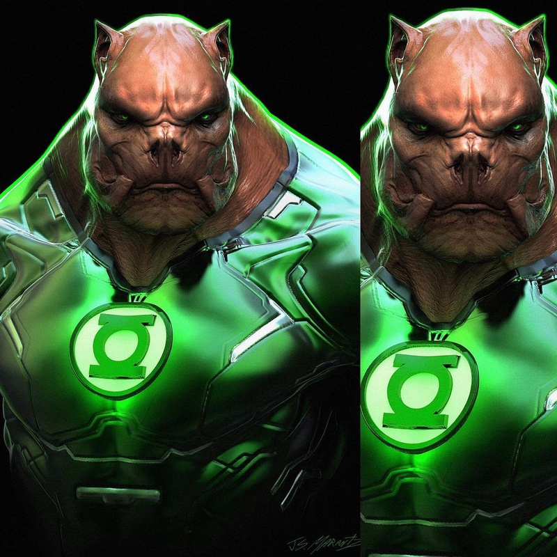 Justice League Kilowog S Green Lantern Design Revealed In Official Snyder Cut Art The Direct