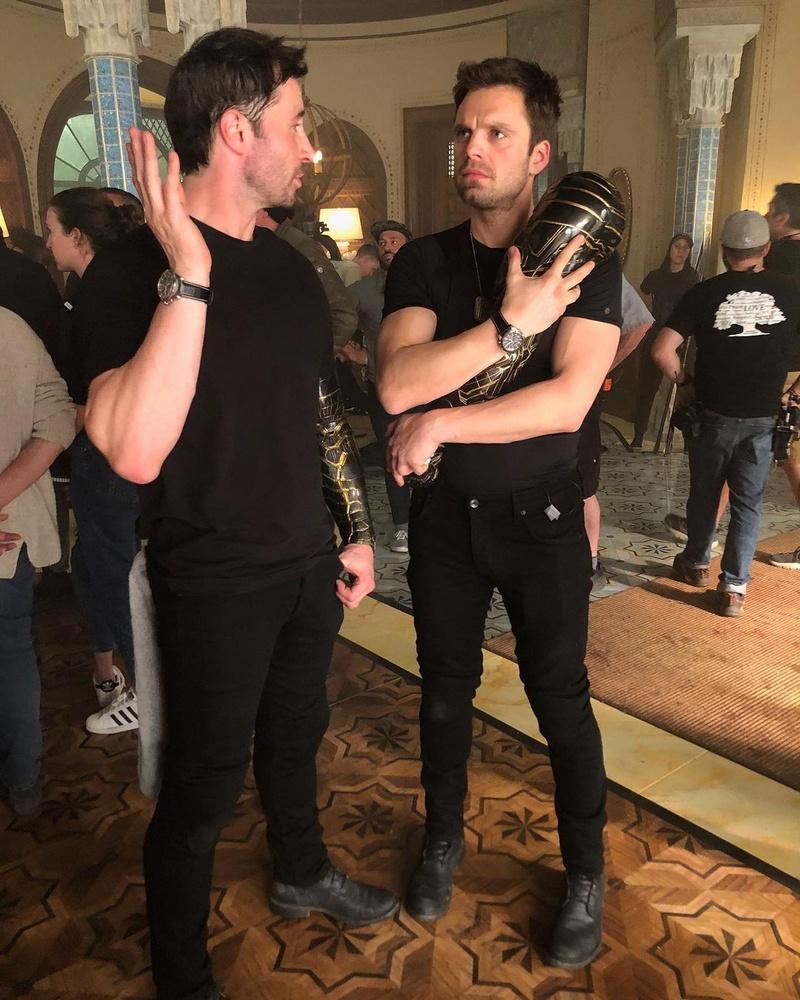 Sebastian Stan, John Nania, vibranium arm