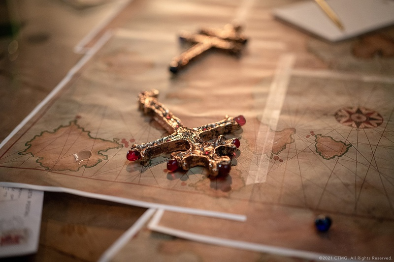 Key Artifact Sat on an Old Map