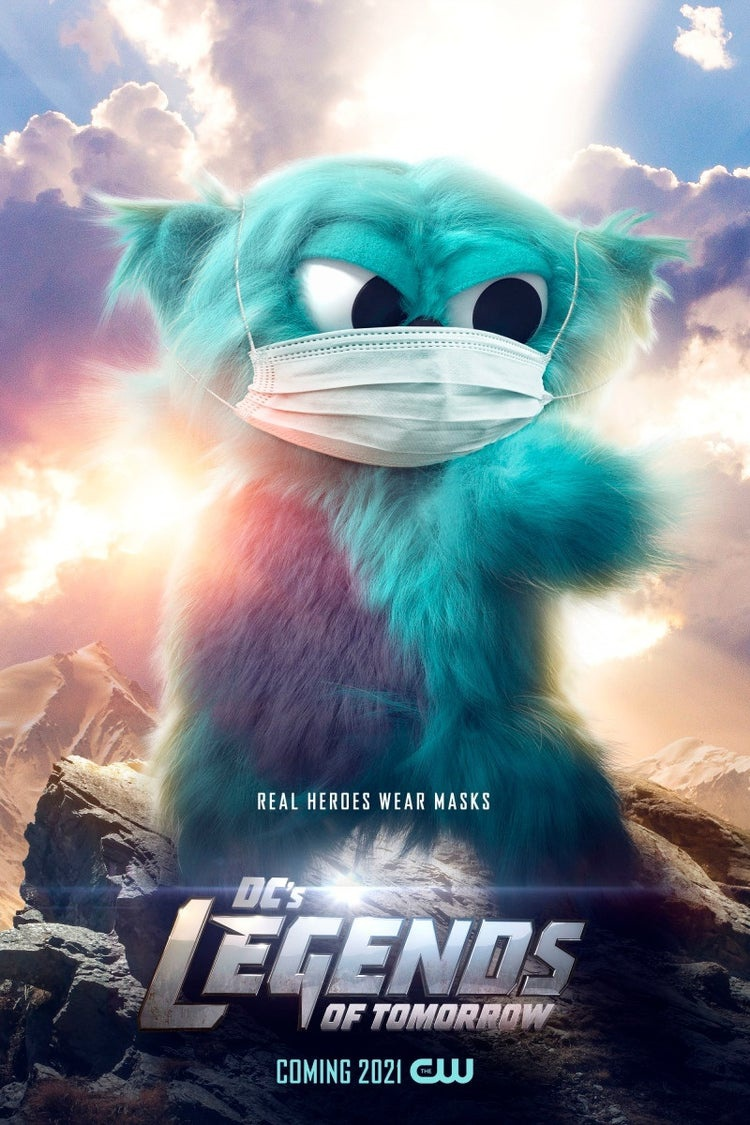 Beebo with a mask
