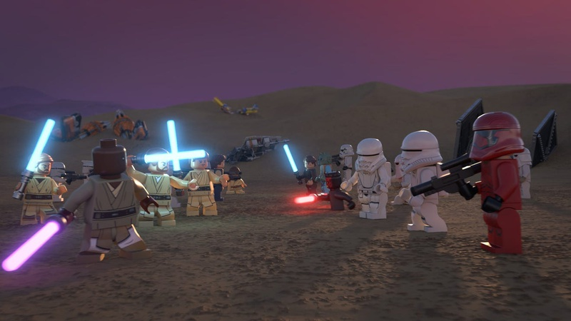 Multiple Lego Jedi fight off against Sith and the First Order
