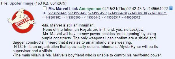 4chan Ms. Marvel Leak