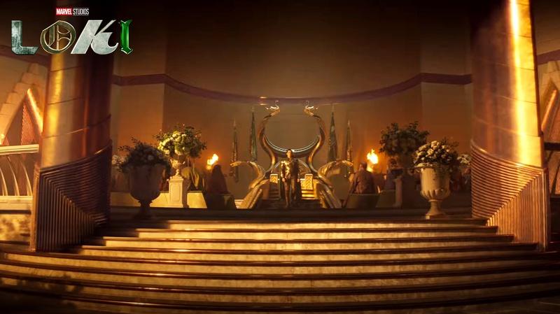 Loki on Asgard throne in Loki