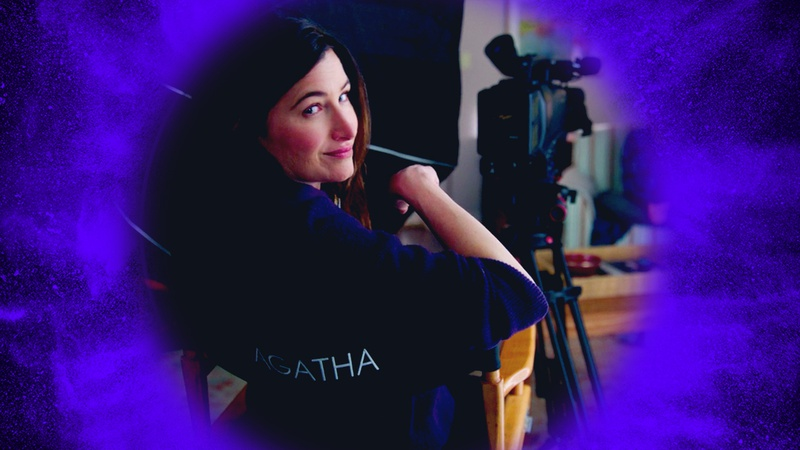 Agatha Harkness in director's chair
