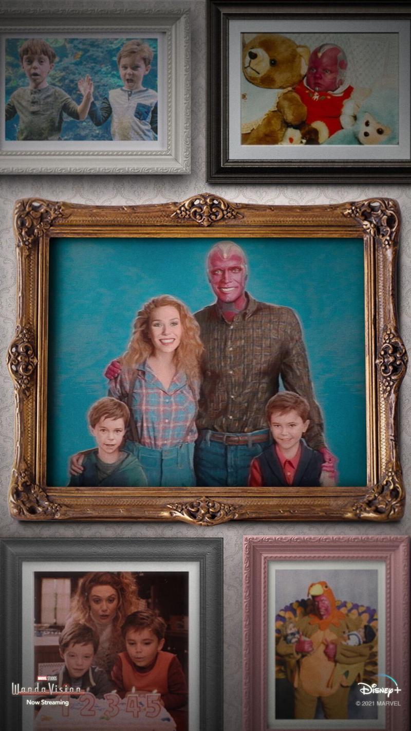 Various WandaVision family photos