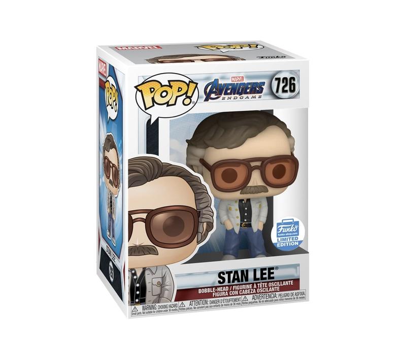 Stan Lee Funko Pop (Endgame packaging -glam shot)