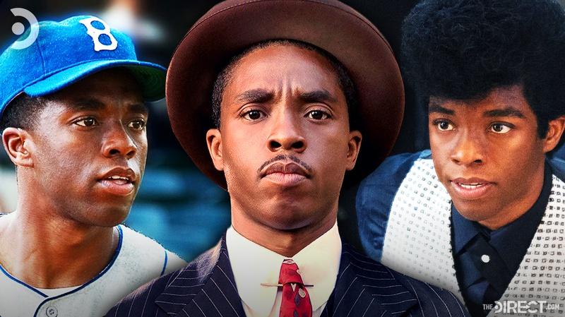 Chadwick Boseman as Jackie Robinson, Thurgood Marshall, James Brown