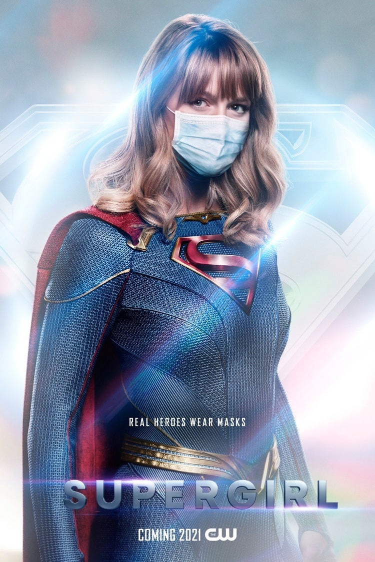 Supergirl with a mask