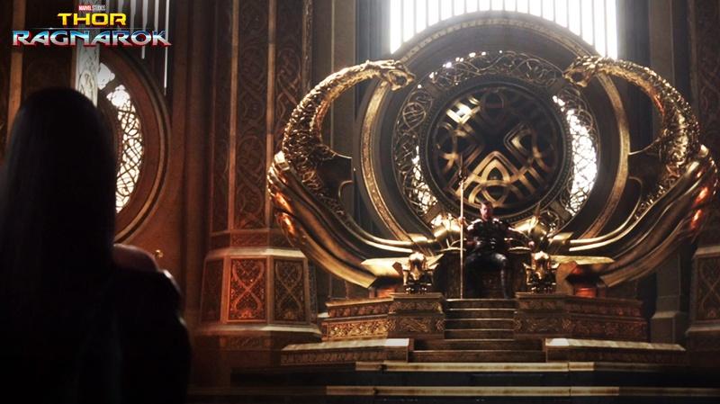 Throne design in Thor Ragnarok