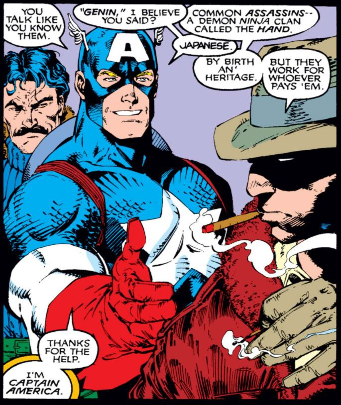 Captain America Wolverine Comic Panel