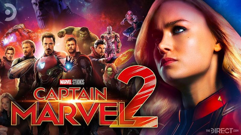 Avengers Infinity War poster, Captain Marvel 2 logo