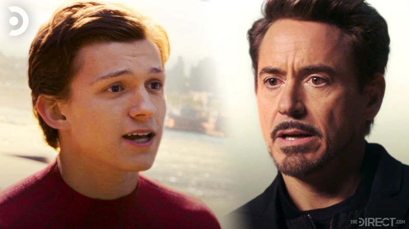 Peter Parker and Tony Stark in Spider-Man