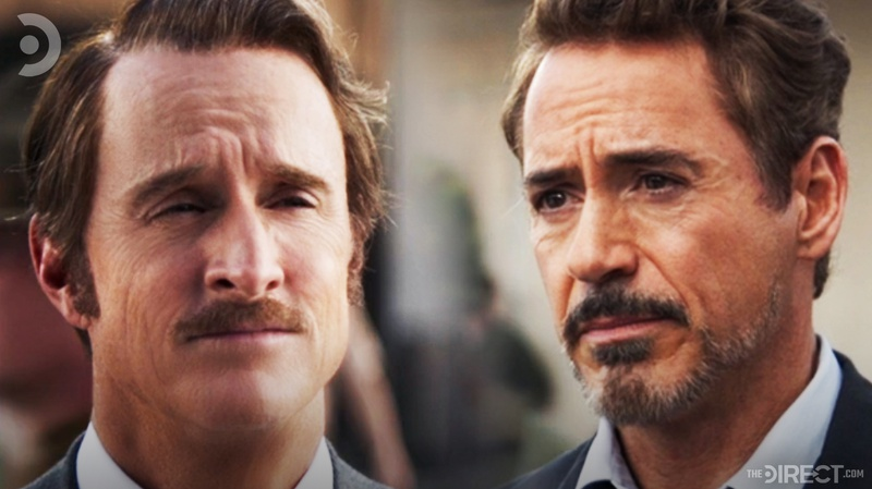 Howard and Tony Stark in Avengers: Endgame