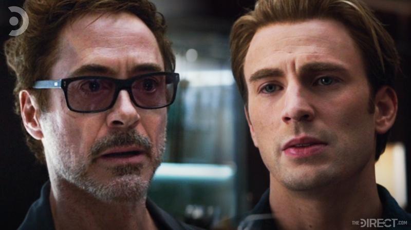 Tony Stark and Steve Rogers in Avengers: Endgame