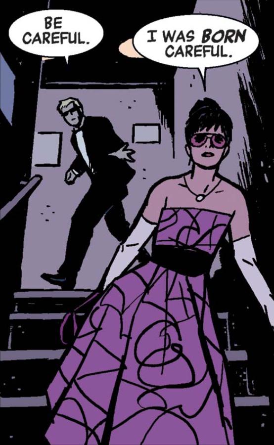 Clint Kate Formal Wear Hawkeye Marvel Comic