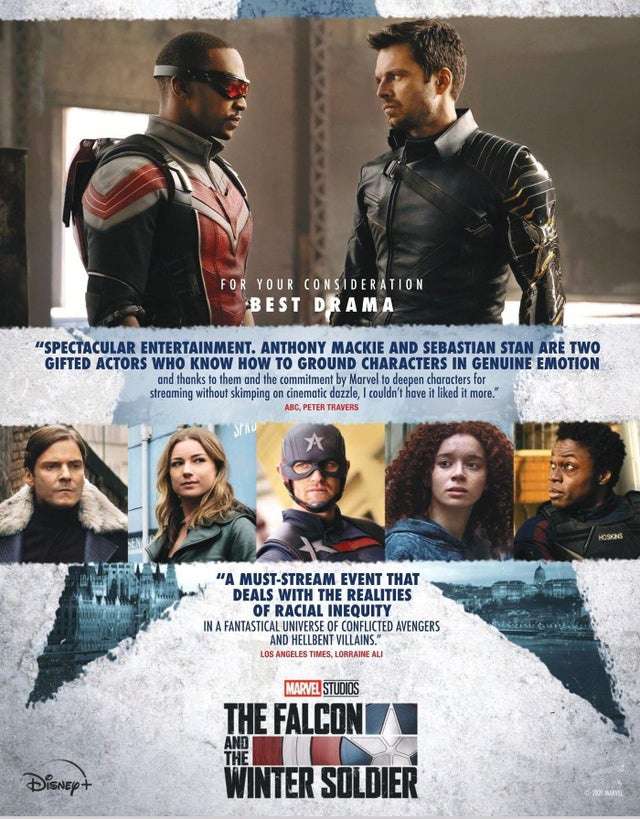 The Falcon and the Winter Soldier Emmys poster