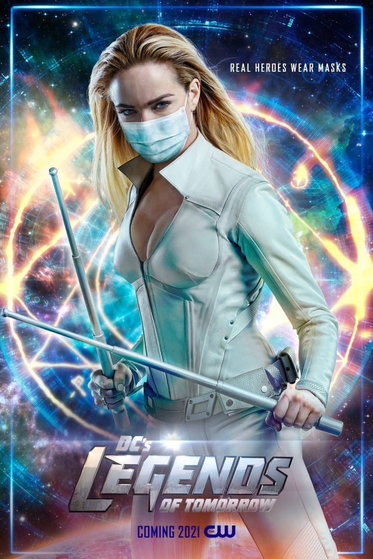 White Canary with a mask