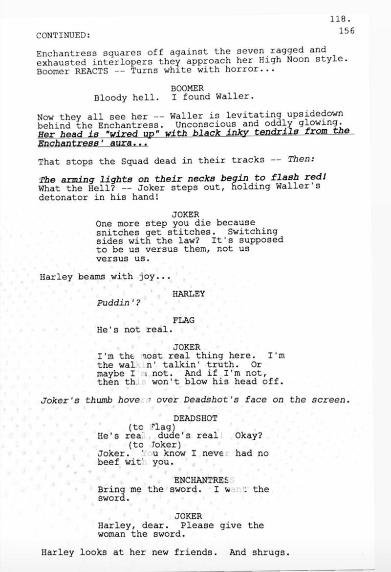 """""""Suicide Squad"""" Script Excerpt"""