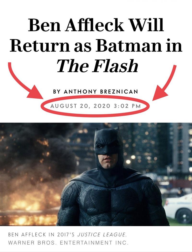 Ben Affleck Returning as Batman announcement